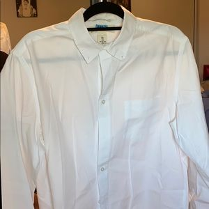 H&M large white long sleeve dress shirt